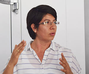 Gloria Mosquera, Plant Pathologist, CIAT   Photo courtesy of CIAT-FLAR